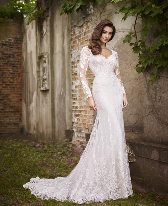 Martin Thornburg wedding dress with sleeves style 119257